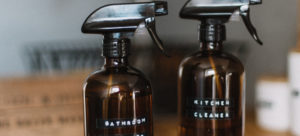Two spray cleaning bottles