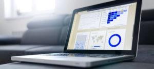 Laptop showing data